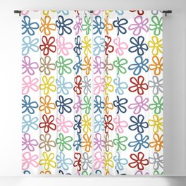 Colorful Daisies Blackout Curtain