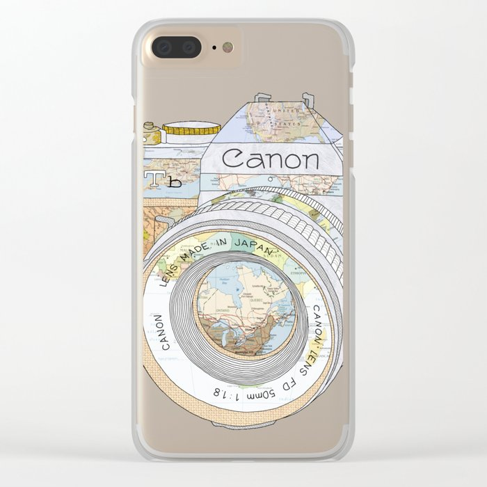 TRAVEL CAN0N Clear iPhone Case