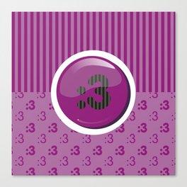 Purple Writer's Mood Canvas Print