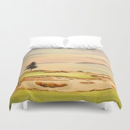Chambers Bay Golf Course 15th Hole Duvet Cover