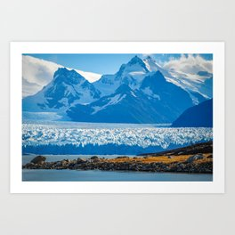 View of Pertito Mereno Glacier Art Print