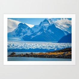 View of Pertito Mereno Glacier Art Print