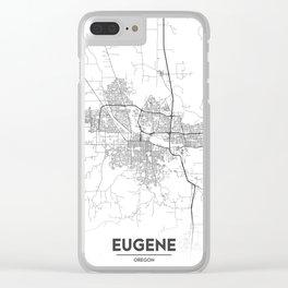 Minimal City Maps - Map Of Eugene, Oregon, United States Clear iPhone Case