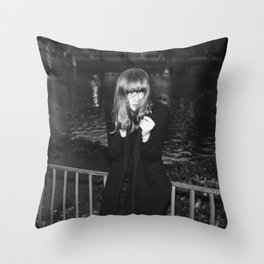 Evening in Retiro Throw Pillow