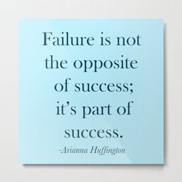 Success Quote - Blue Metal Print