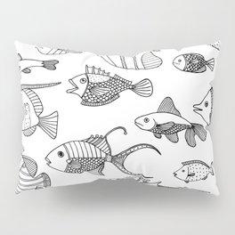 Arrangement of doodle fish Pillow Sham