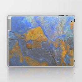 Blue and Orange Marble Pattern Laptop & iPad Skin
