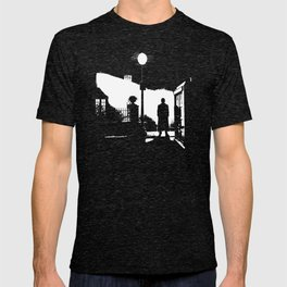 The Exorcist movie poster parody of Doctor Who 10th T-shirt
