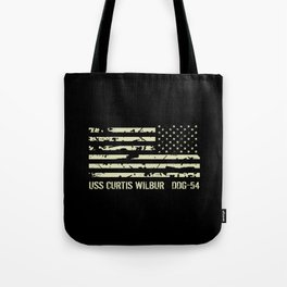 USS Curtis Wilbur Tote Bag