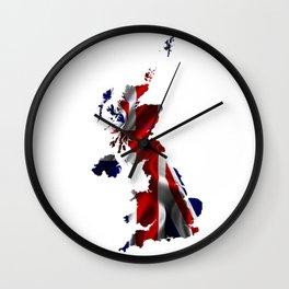 United Kingdom Map and Union Jack Wall Clock