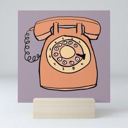 Rotary phone Mini Art Print