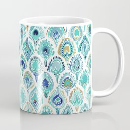 PEACOCK MERMAID Nautical Scales and Feathers Coffee Mug
