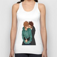 larry stylinson Tank Tops featuring larry violet nature by mrsadfran