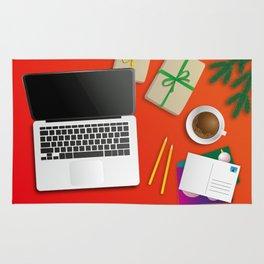 workplace at christmas time Rug