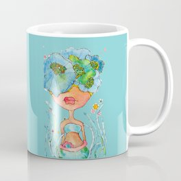 blue girl -- she's a gentle one. Coffee Mug