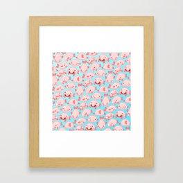 Blobfish Pattern Framed Art Print