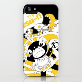 Desu~!!: Yellow iPhone Case