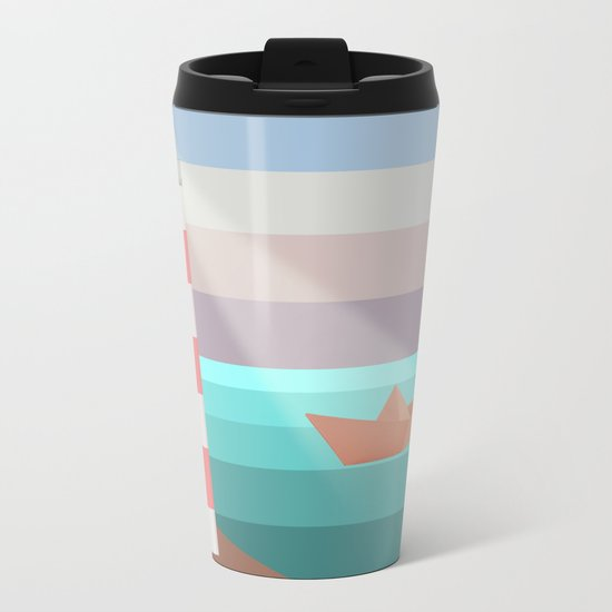 YOU ARE NOT ALONE (Origami) Metal Travel Mug