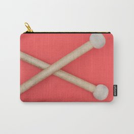 drum sticks red background Carry-All Pouch