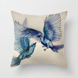 Two little birds Throw Pillow