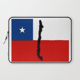 Chilean Flag with Map of Chile Laptop Sleeve