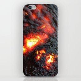 Flaming Seashell 4 iPhone Skin