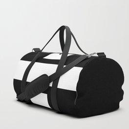 Obelus Sign (White & Black) Duffle Bag