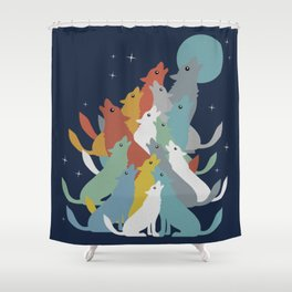 A Pack of Wolfs Shower Curtain