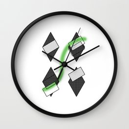 losange abstrait Wall Clock