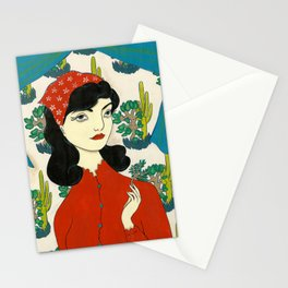 Found gentle, studied slow Stationery Cards
