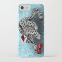 snow leopard iPhone & iPod Cases featuring Snow Leopard by Anna Shell
