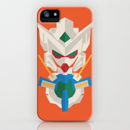 gundam exia flat design iPhone Case