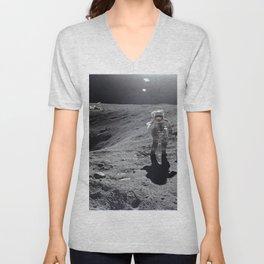 Apollo 16 - Plum Crater Unisex V-Neck
