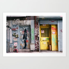 Graffiti in Chinatown Art Print
