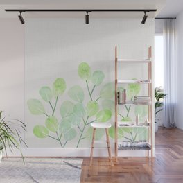 Jade Plant Watercolor Wall Mural