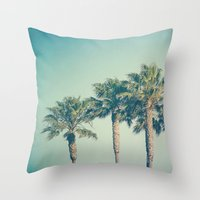 palms Throw Pillows featuring Palms by Laura Ruth