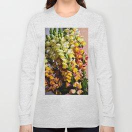 Snap Dragon Flowers / Milan -Italy Long Sleeve T-shirt