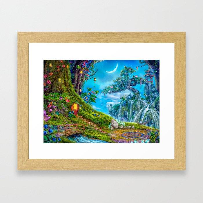 Day Moon Haven Framed Art Print
