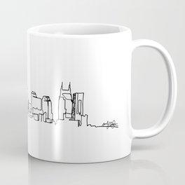 Nashville Skyline Drawing Coffee Mug
