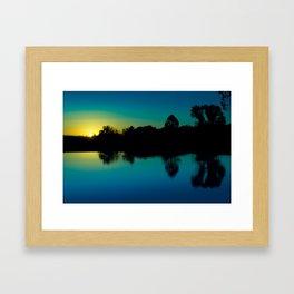 Cool sunrise Framed Art Print
