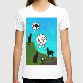 Cats Dreaming inTwilight T-shirt