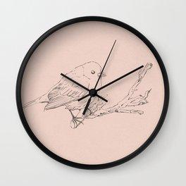 Hand drawning of a bird Wall Clock