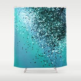 Aqua Blue OCEAN Glitter #1 #shiny #decor #art #society6 Shower Curtain