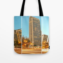 City Awakening Triptych Tote Bag
