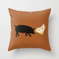 snatch Throw Pillows featuring Snatch by FilmsQuiz