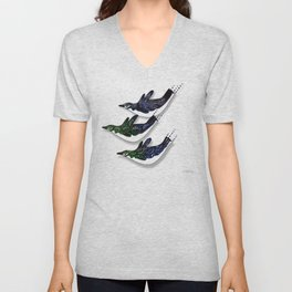 DIVING PENGUINS Unisex V-Neck