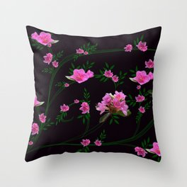 Pink flower clipping Throw Pillow