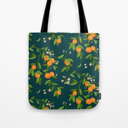 Citrus Tree - Navy Tote Bag