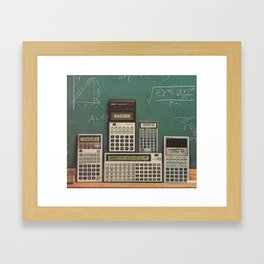 Casio Calculators...the good old days. Framed Art Print