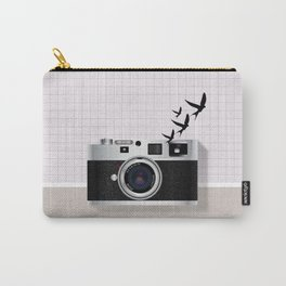 vintage camera and birds Carry-All Pouch
